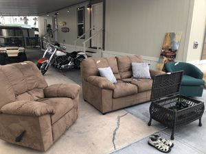 Ashley couch and recliner for Sale in Fort McDowell, AZ