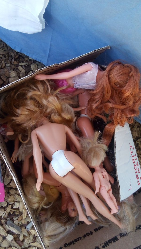 NIB collector Barbies and a box full of naked Barbies Ken