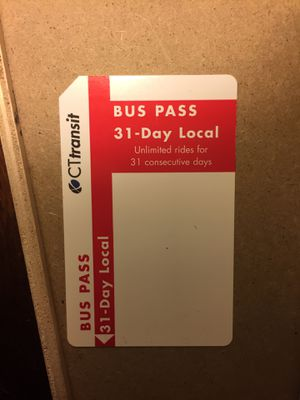 31 Day Buss Pass for Sale in Glastonbury, CT