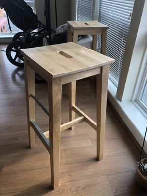 Wood and metal square bar stools for Sale in Fairfax, VA