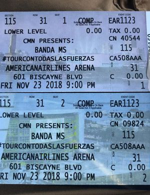 Tickets Banda MS for Sale in West Palm Beach, FL