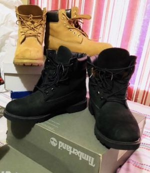 Black timberlands boots for men size 10.5 for Sale in Miami Gardens, FL