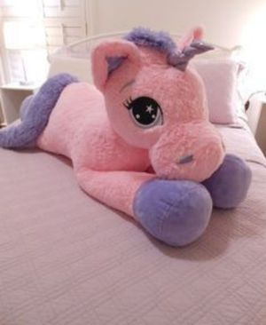 3 feet plush unicorn plushie peluche for Sale in Lake Elsinore, CA