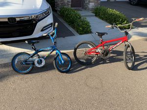 Kids bike bicycle - red 20 inch - blue 16 inch for Sale in San Diego, CA
