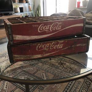 Vintage Coca-Cola Wooden Bottle Cases for Sale in Gaithersburg, MD