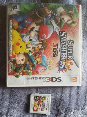 Super Smash Bros for Nintendo 3DS for Sale in Moreno Valley, CA