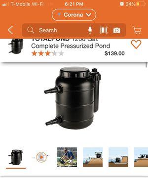 TOTAL POND FILTER WT UV CLARIFIER $80 for Sale in Riverside, CA