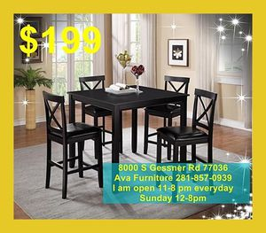 5 pieces dining room table set $199 for Sale in Houston, TX