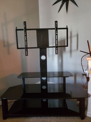 Black 46 inch TV Stand with mount for Sale in Fountain, CO