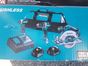 Makita combo set with saw for Sale in Orlando, FL