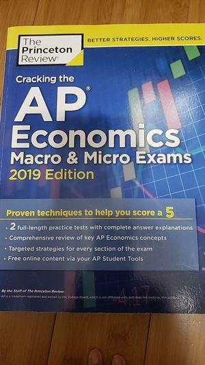 Cracking 5he AP Economics Macro & Micro Exams 2019 Edition for Sale in Ontario, CA