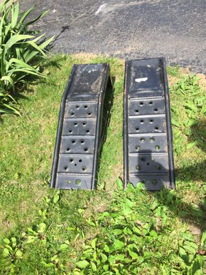 Steel car ramps $15 for both for Sale in Rochester, MI