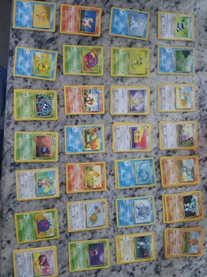 Pokemon lot (28 cards) orinigal collection base set, fossil set, jungle set. for Sale in Temecula, CA