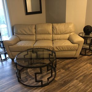 Genuine Leather Couch for Sale in Lynnwood, WA