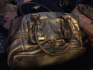 Michael Kors leather gold bag. Heavy for Sale in Union, NJ