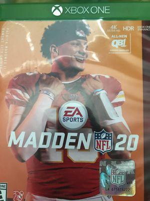 Madden 20 Xbox one for Sale in Phoenix, AZ