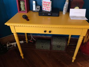Yellow console table for Sale in Philadelphia, PA