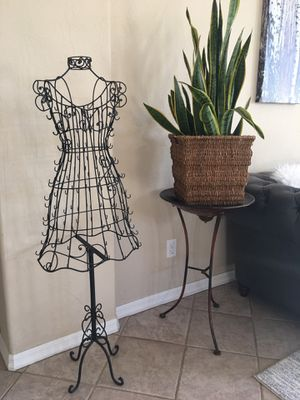 Model Black Metal Scrollwork Wire Frame Dress Form mannequin/ home decor / accent wrought iron decor for Sale in Glendale, AZ