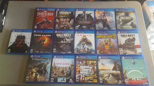 Ps4 Video Game Lot Bundle for Sale in Rancho Cucamonga, CA