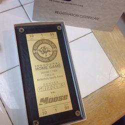 Denver Grizzlies 24 Karat Gold Plated Ticket for Sale in Boca Raton,  FL