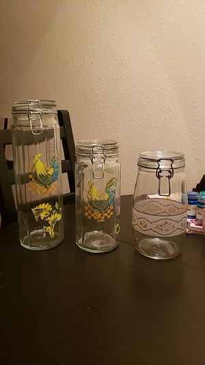Glass jars with a latch for Sale in Glendale, AZ