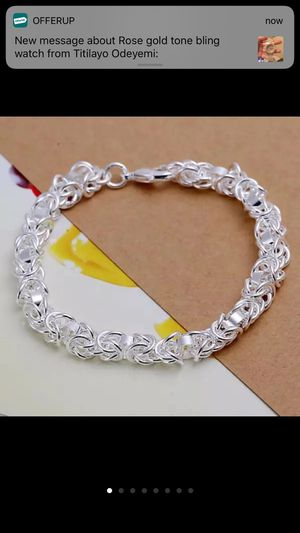 Sterling silver plated bracelet women's jewelry for Sale in Silver Spring, MD
