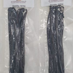(20 Pcs) GRADE B For Extract - Premium Tahitian Vanilla Beans - Long Beans 5.5-6.5 Inch for Sale in Fullerton, CA