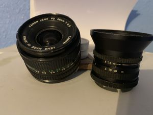 Canon lens FD 28 mm 1:2.8 and F1.8 Lenses for FLR $75 for Sale in San Antonio, TX