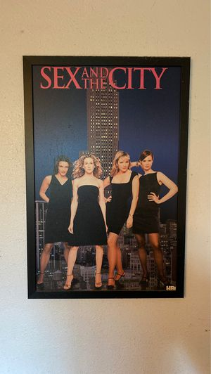 Framed sex and the city poster for Sale in Santee, CA