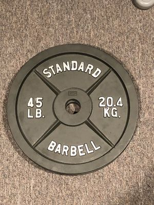 45lb Standard Barbell Olympic Size Plate. 35 and 25lb also available!! for Sale in Alpharetta, GA