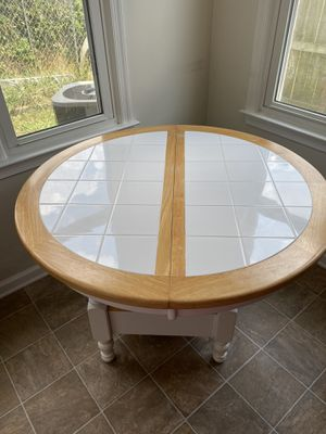 Ceramic tile and wood kitchen table, no chairs for Sale in Virginia Beach, VA