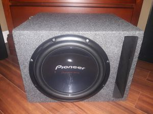 Brand New!!! 12 In Pioneer Champion Series DVC Sub & Box & Amp for Sale in Fort Oglethorpe, GA