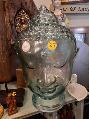 Glass buddah head for Sale in Dunedin, FL