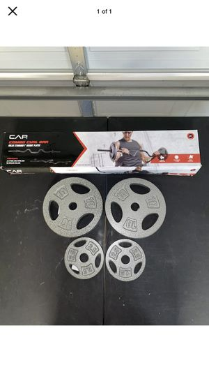 Combo Curl Bar + Plates for Sale in Monroe Township, NJ