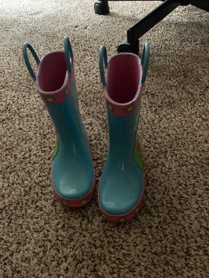 Kids rain boots peppa pig size 9 little girls for Sale in Canton, MI