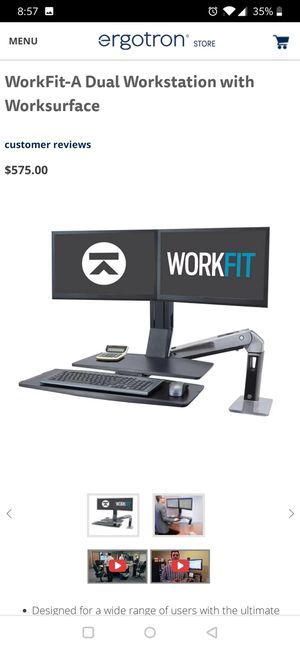Ergotron dual monitor stand for Sale in Andover, MA