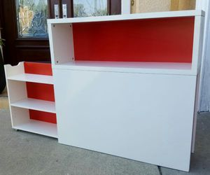 LK NEW Twin Sz Size Storage Headboard + Shelves + Sliding Drawers (Perfect for Daybed Day Twin Bed) for Sale in Monterey Park, CA