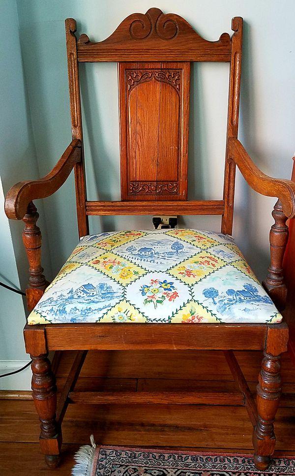 Antique Tudor oak chair