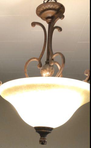 Nice Bronze Light Fixture!! $15 pick it up !! for Sale in Kearny, NJ