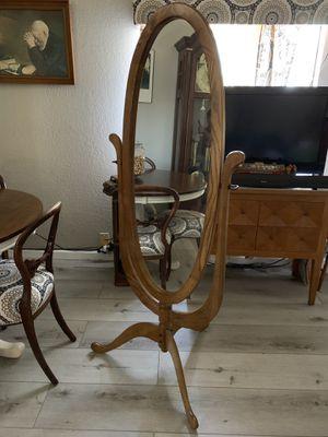 Antique mirror oak wood for Sale in Oakland, CA