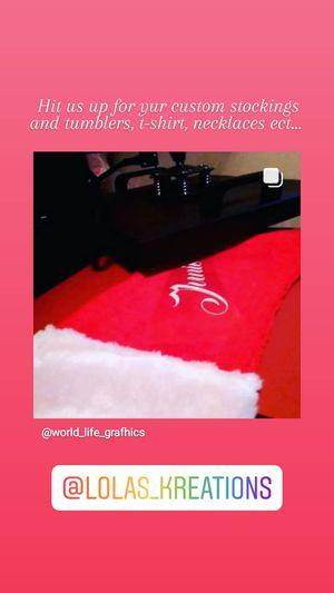 Hit me up for yur custom stockings for Christmas for Sale in Rialto, CA