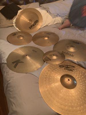 Paiste sabian and zildjian drum cymbal set for Sale in Phoenix, AZ
