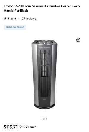 Envion FS200 Air purifier heater fan & humidifier for Sale in Daly City, CA