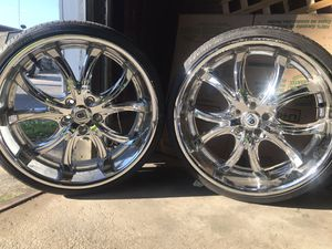 """Ashanti 22"""" in luxury rims with low profile pirelli tires for Sale in York, PA"""
