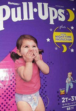 Huggies Nighttime Pullups Girls 2/3t for Sale in Clackamas,  OR