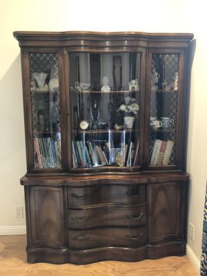"Antique china cabinet 71""H54""W17""dep for Sale in Laguna Niguel, CA"