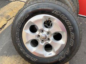 "(5) 18"" Jeep Sahara Wheels + 255/70R18 Bridgestone Dueler A/T - $425 for Sale in Santa Ana, CA"