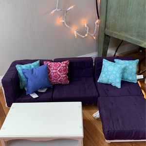 Doll Sectional Couch And Coffee Table for Sale in Columbia, MD