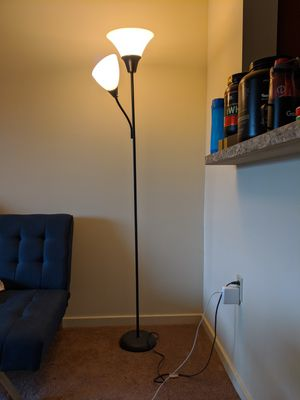 Floor Lamp -- Torchiere with Task Light (2 Light bulbs included) for Sale in Pittsburgh, PA