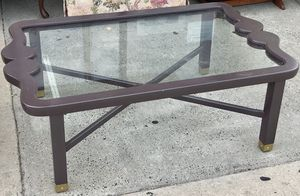 Glass Panel Top Coffee Table for Sale in Philadelphia, PA